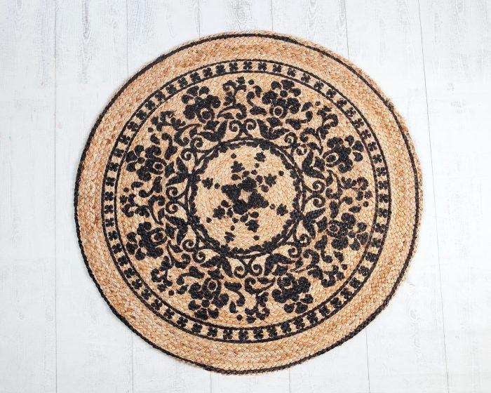 Alfombra Mandala Negro