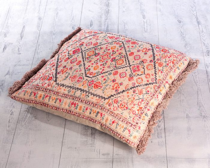 Cojín Algodón Envejecido Multicolor - Productos de Alquiler y Decoración Évelen