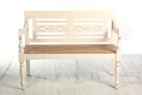 Banco de madera blanco